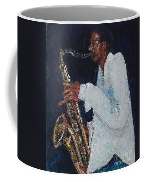 Palette Knife Coffee Mug featuring the painting Proffessor Daddyo by Beverly Boulet