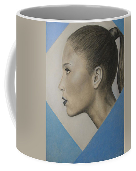 Woman Coffee Mug featuring the painting Profile by Lynet McDonald