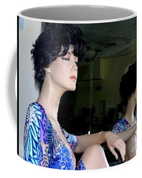 Mannequins Coffee Mug featuring the photograph Profile Of Patrice by Ed Weidman