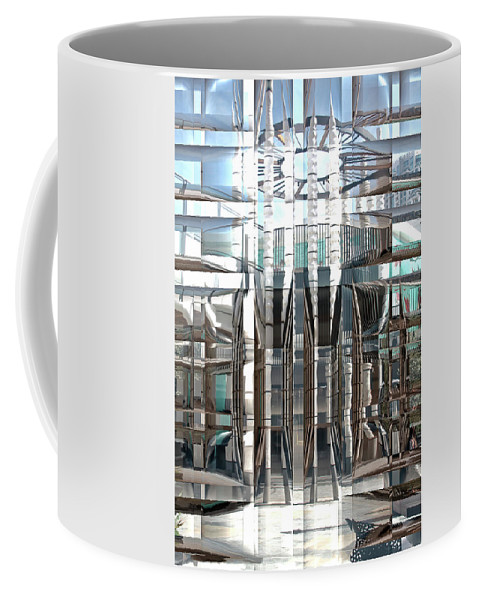 Arquitecture Coffee Mug featuring the digital art Progression by Manuel Lanz