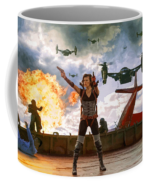 Comics Coffee Mug featuring the digital art Project Alice by Don Kuing