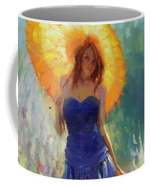 Woman Coffee Mug featuring the painting Promenade by Steve Henderson