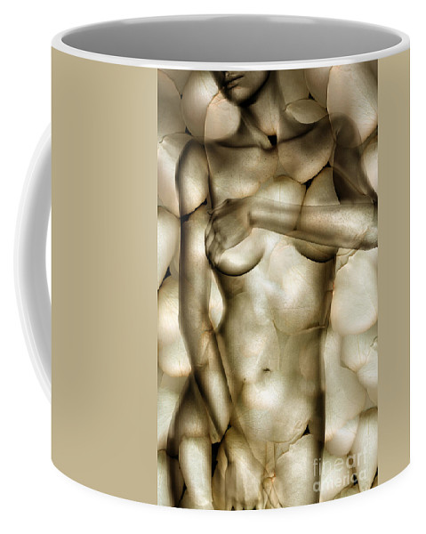 Woman Coffee Mug featuring the photograph Protected by Jacky Gerritsen