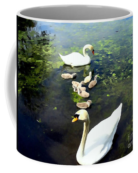 Abstract Coffee Mug featuring the photograph Protective Parents by Ed Weidman