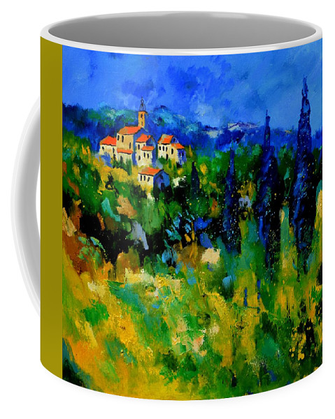 Landscape Coffee Mug featuring the painting Provence 768110 by Pol Ledent