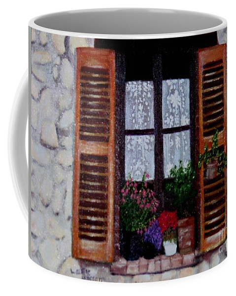 Provence Coffee Mug featuring the painting Provence Morning by Laurie Morgan