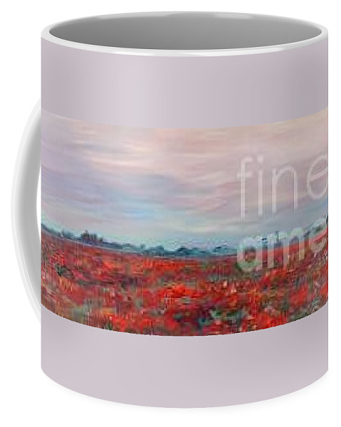 Poppies Coffee Mug featuring the painting Provence Poppies by Nadine Rippelmeyer