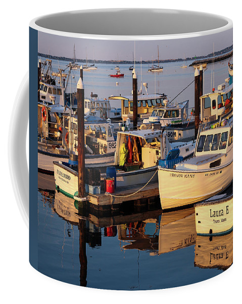 Provincetown Ma Coffee Mug featuring the photograph Provincetown Fishing Boats, Ptown, Ma by Nicole Freedman