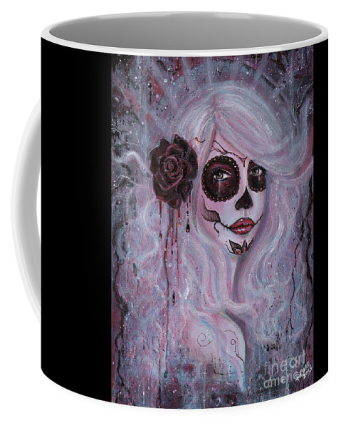 Abstract Coffee Mug featuring the painting Prynne by Renee Lavoie