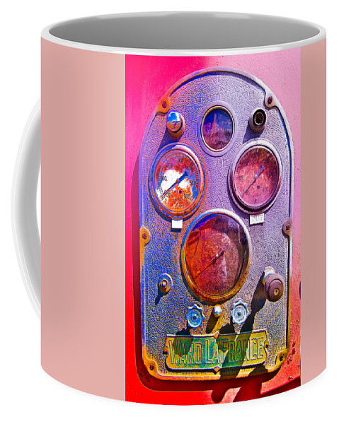 Coffee Mug featuring the photograph Psychedelic Gauges by Julie Niemela
