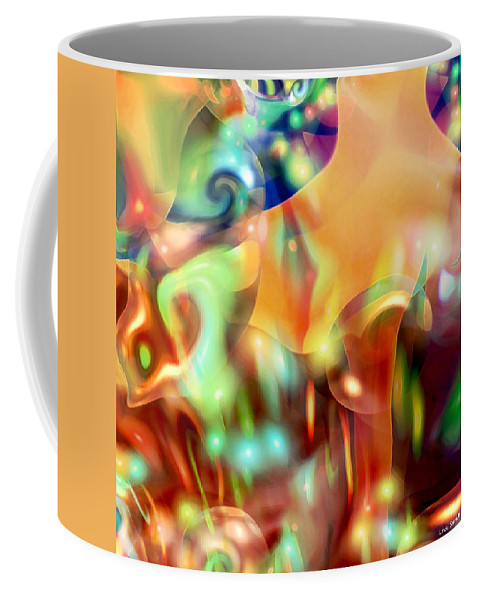 Abstract Art Coffee Mug featuring the digital art Psychedelic Xperiment by Linda Sannuti