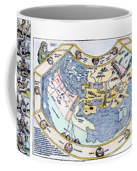 1493 Coffee Mug featuring the photograph Ptolemaic World Map, 1493 by Granger