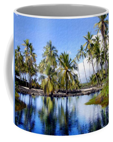 Hawaii Coffee Mug featuring the photograph Pu Uhonua O Honaunau Pond by Kurt Van Wagner
