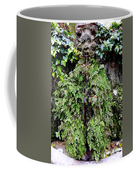 Public Fountain Coffee Mug featuring the photograph Public Fountain In Palma Majorca Spain by Richard Rosenshein