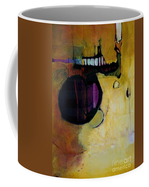 Abstract Coffee Mug featuring the painting Published by Marlene Burns