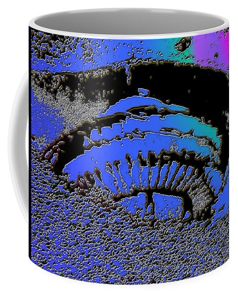 Seattle Coffee Mug featuring the digital art Puddle Needle 2 by Tim Allen