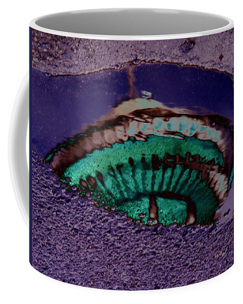 Seattle Coffee Mug featuring the digital art Puddle Needle by Tim Allen