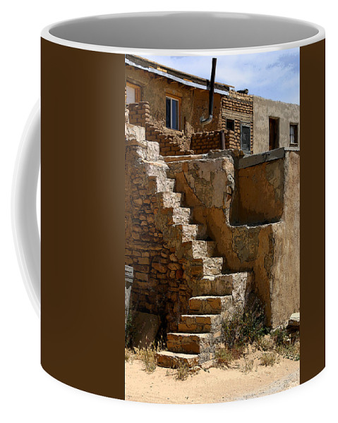 Pueblo Coffee Mug featuring the photograph Pueblo Stairway by Joe Kozlowski