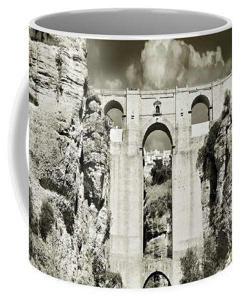 Bridge Coffee Mug featuring the photograph Puente Nuevo Tajo De Ronda Andalucia Spain Europe by Mal Bray
