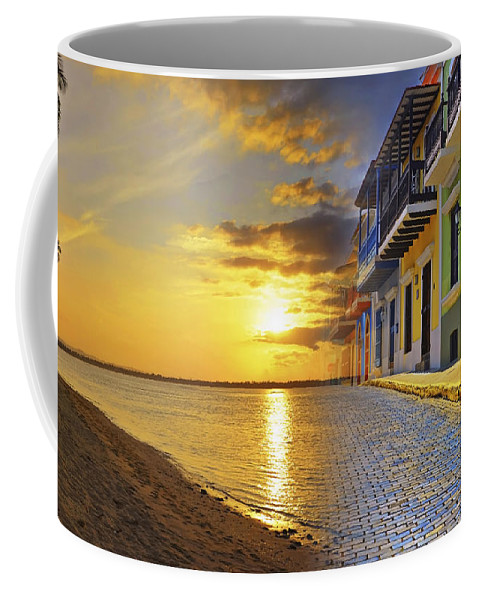 Puerto Rico Coffee Mug featuring the photograph Puerto Rico Montage 1 by Stephen Anderson