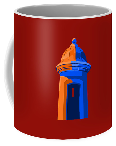 Puerto Rico Coffee Mug featuring the digital art Puerto Rico Turret by John Berndt