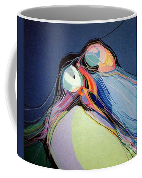 Puffins Coffee Mug featuring the painting Puffins by Marlene Burns