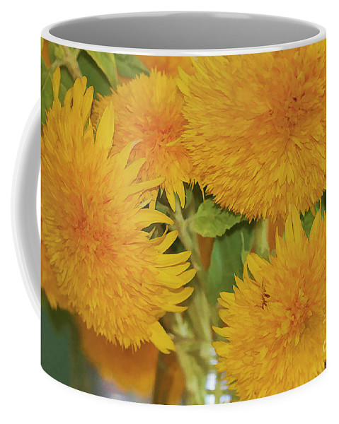 Flowers Coffee Mug featuring the photograph Puffy Golden Delight by Deborah Benoit