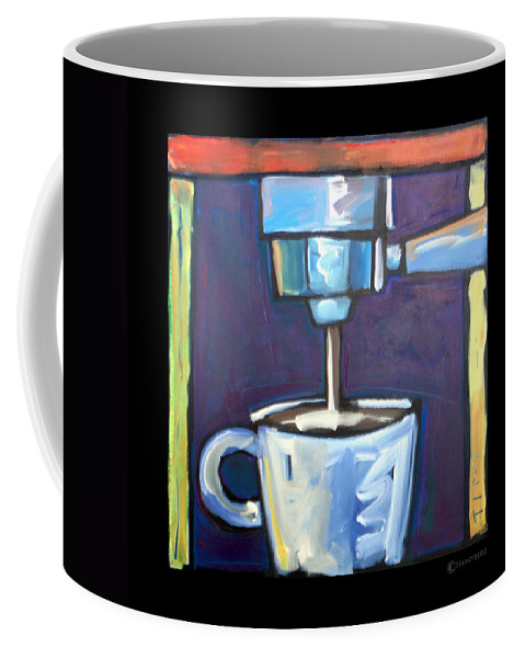 Coffee Coffee Mug featuring the painting Pulling A Shot by Tim Nyberg