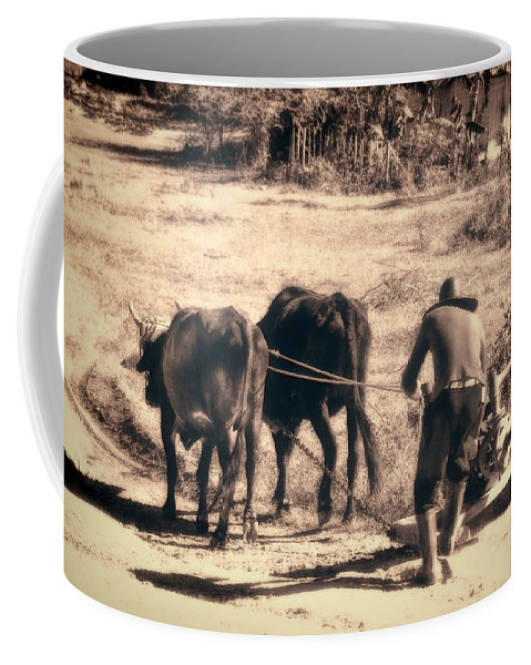 Cuba Coffee Mug featuring the photograph Pulling Hard by Claude LeTien