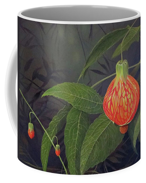 Tiger Eye Flowering Maple Coffee Mug featuring the painting Pulse by Hunter Jay