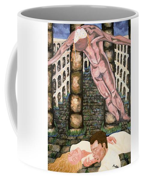 Spirit Coffee Mug featuring the painting Pulse by Jennifer Klotz