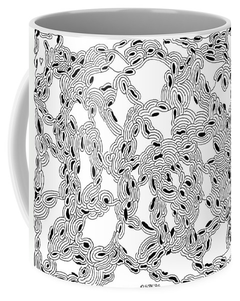 Mazes Coffee Mug featuring the drawing Pulse by Steven Natanson