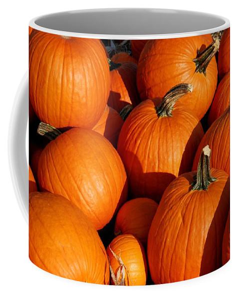 Pumpkins Coffee Mug featuring the photograph Pumpkins by Angie Tirado