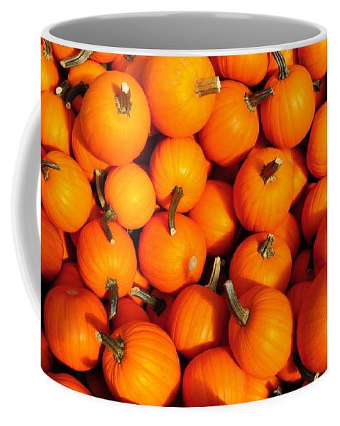 Pumpkins Coffee Mug featuring the photograph Pumpkins by David Arment