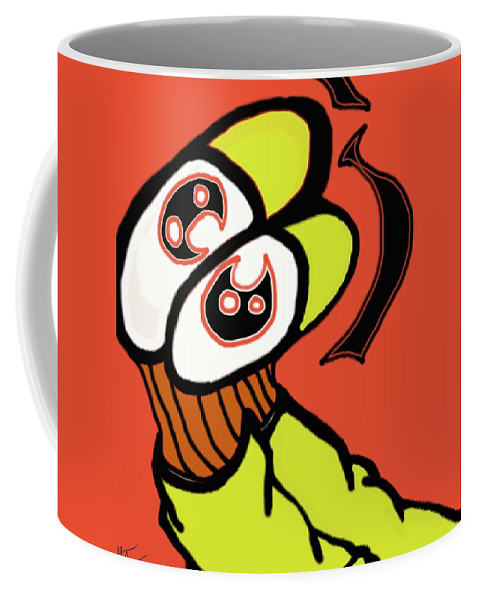 Feet Coffee Mug featuring the painting Chill'n by Adam Norman