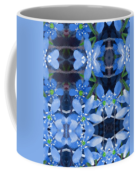 Flowers Coffee Mug featuring the mixed media Pure For Life by Pepita Selles