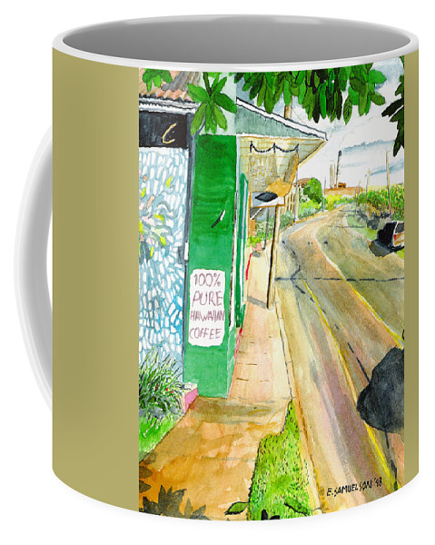 Paia Coffee Mug featuring the painting Pure Hawaiian by Eric Samuelson
