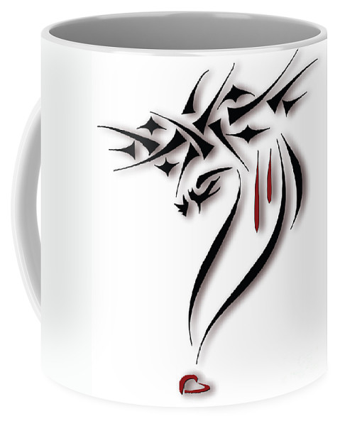 Jesus Coffee Mug featuring the drawing Pure Love by Cathy Weaver
