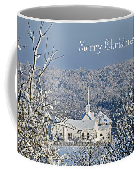 Little White Church Coffee Mug featuring the photograph Pure White Christmas by Regine Brindle
