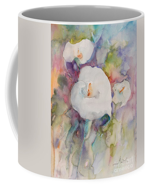 Flowers Coffee Mug featuring the painting Purete 01 by Miki De Goodaboom