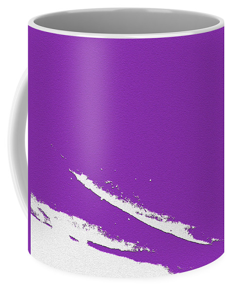 Purple Coffee Mug featuring the digital art Purple by Are Lund