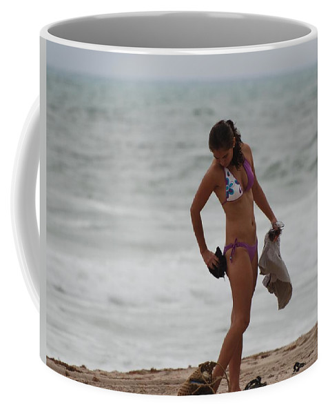 Bikinis Coffee Mug featuring the photograph Purple Bikini by Rob Hans
