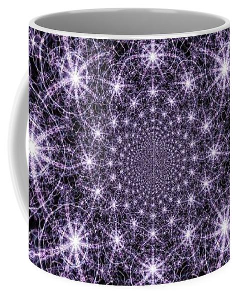 Color Coffee Mug featuring the digital art Purple Celeste by April Patterson