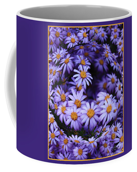 Flower Abstract Flower Abstracts Coffee Mug featuring the photograph Purple Daisy Abstract by Carol Groenen