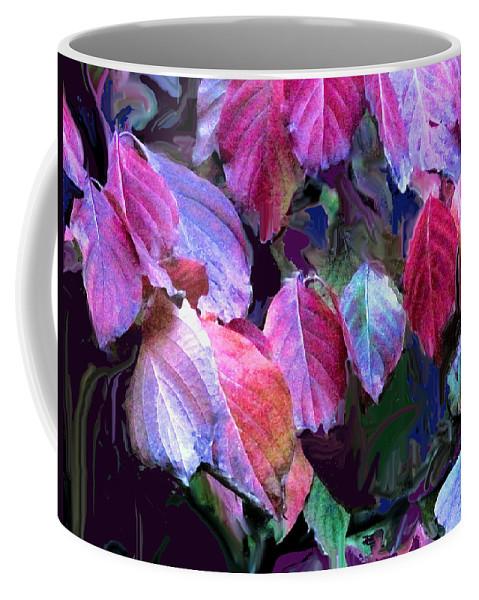Leaves Coffee Mug featuring the photograph Purple Fall Leaves by Ian MacDonald