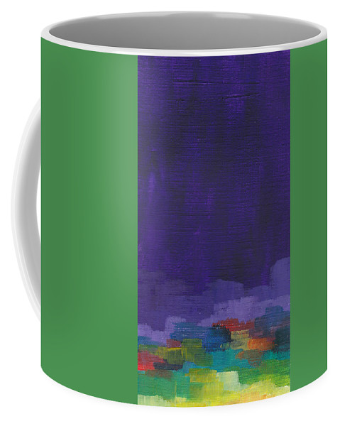 Purple Coffee Mug featuring the painting Purple I by Chelsie Ring