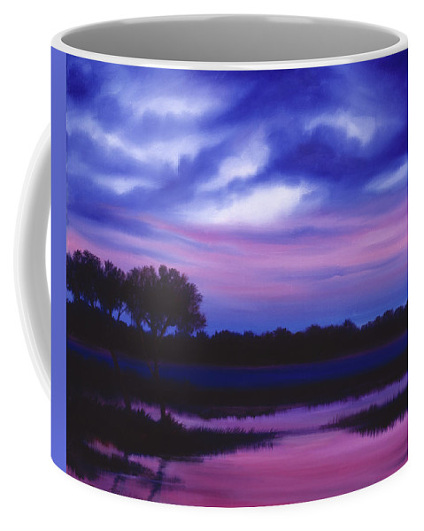 Sunrise Coffee Mug featuring the painting Purple Landscape Or Jean's Clearing by James Christopher Hill
