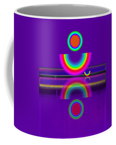 Reflections Coffee Mug featuring the painting Purple Moon by Charles Stuart