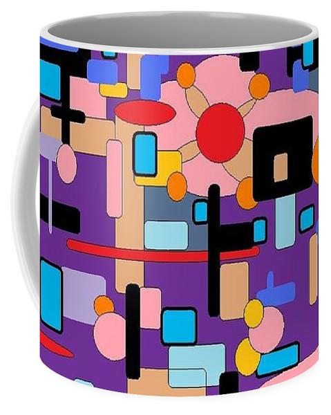 Abstract Digital Coffee Mug featuring the digital art Purple Passion by Jordana Sands