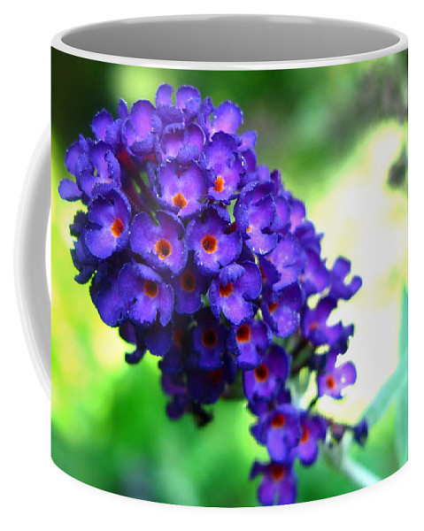 Butterfly Bush Coffee Mug featuring the photograph Purple Peace by Brittany Horton